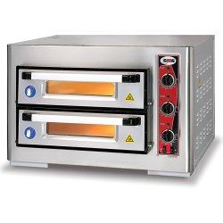 Pizzaugn El 2 kammare 4+4 pizzor á 25cm 3 termostater 400V/3-fas | Adexa PF5050DE3