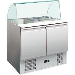 Saladette Glastopp 900x700x1350mm 2 dörrar | Adexa S900CG