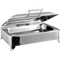 Chafing Dish Elektrisk GN1/1 Glaslock Rostfritt stål 9 liter | Adexa AD1102
