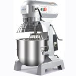 Professionell Planetmixer Silver 20 liter Fast huvud 3 hastigheter | Adexa ADM20