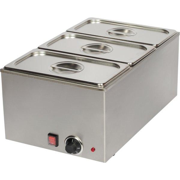 Vattenbad 3xGN1/3 inklusive 3 kantiner med lock | Adexa TTB30