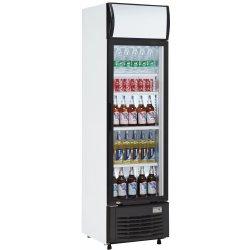Drickakyl 282 liter Glasdörr Svart/Vit   Adexa LG282B