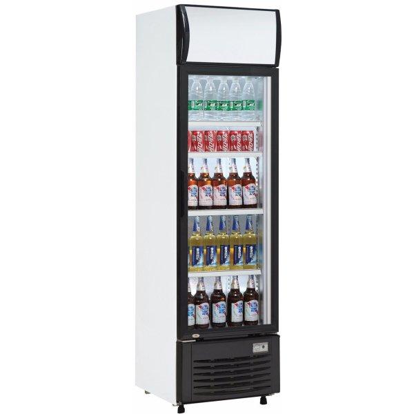 Drickakyl 282 liter Glasdörr Svart/Vit | Adexa LG282B
