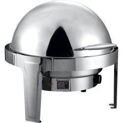 Chafing Dish Rulltopp Elektrisk Rund Rostfritt stål Spegelfinish 6 liter | Adexa RA2101BE