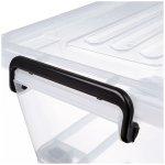 8-pack Förvaringslåda med lock & hjul 50 liter 560x390x310mm Polypropen | Adexa S1050