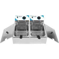 Professionell Fritös Dubbel 7+7 liter 5kW Elektrisk Bänkmodell | Adexa WHCDFD