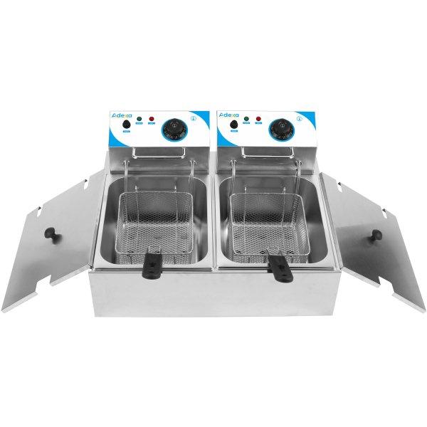 Professionell Fritös Dubbel 7+7 liter 5kW Elektrisk Bänkmodell   Adexa WHCDFD