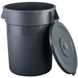 Soptunna/Avfallsbehållare med Lock 130 liter Mörkgrå | Adexa XDW008