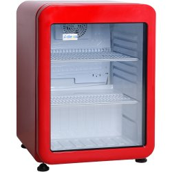 Kylskåp Retro 68 liter Röd Glasdörr A+ | Adexa XLS76RED